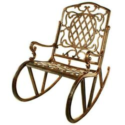 Oakland Living Mississippi Patio Rocking Chair Outdoor and Garden Rocker Chairs