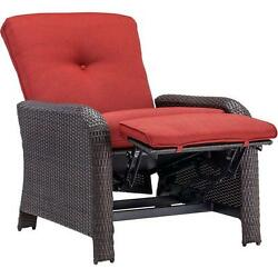 Hanover Strathmere Crimson Red Outdoor Reclining Patio Arm Chair Garden Lounges