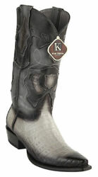 KING EXOTIC GRAY SNIP TOE GENUINE CROCODILE WESTERN COWBOY BOOT 94DRDCC38 $379.99