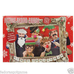 Photo Booth Props WIth Frame Christmas Theme Festive Holiday Party Fun $9.99