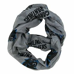 NFL Infinity Scarf Carolina Panthers Sheer Fabric Official Licensed NFL Fan Shop