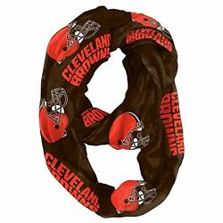 NFL Infinity Scarf Cleveland Browns Sheer Fabric Official Licensed NFL Fan Shop
