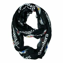 NFL Infinity Scarf Pittsburgh Steelers Sheer Fabric Official Licensed NFL Fan Sh