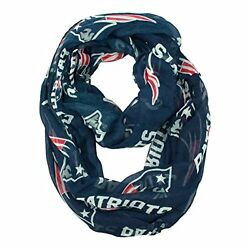NFL Infinity Scarf New England Patriots Sheer Fabric Official Licensed NFL Fan S