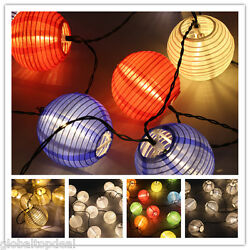 Solar Powered LED Fairy String Lights Outdoor Patio Home Party Wedding Lanterns