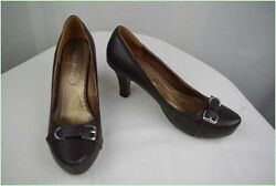 Court Shoes COTE OPERA Leather Dark Brown T 40 Very Good Condition $38.24