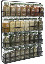 Spice Rack Organizer 4 Tier Country Rustic Chicken Herb Holder Wall Mounted $29.95