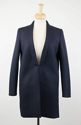 NWT BRUNELLO CUCINELLI Navy Blue Cashmere Blend Full Length Coat Size 642 $4470