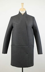 NWT BRUNELLO CUCINELLI Gray Cashmere Blend Full Length Coat Size 844 $4795