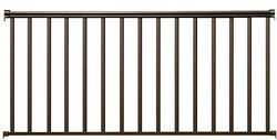 Baluster Railing Kit 6 ft. x 36 in. Bronze Aluminum Deck Balcony Stairs Ramp