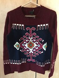 J CREW Collection Moroccan Design Inspired Embroided Cashmere Sweater NWT $498