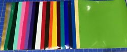 12 12quot;x12quot; Sheets Oracal 651 Craft Adhesive Vinyl For Cricut Choose or Mix Color $12.95