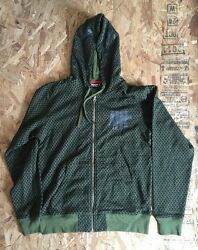 UNDEFEATED SHEMAGH ZIP HOODIE OLIVE PRINT SIZE LARGE NWT