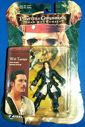 WILL TURNER pirates caribbean figure DEAD MAN#x27;S CHEST new factory sealed $12.50