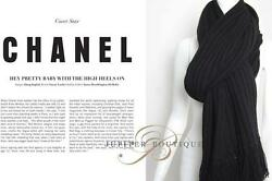 Chanel Super Warm Cashmere Scarf  Simple Design Black Perfect for GIFT