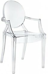 Armchair Translucent Indoor Outdoor Chair Clear Plastic Yard Seat Trendy House