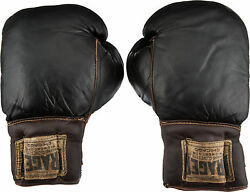 COA 1950s Archie Moore Worn Used Boxing Gloves Longest Title Holder in History