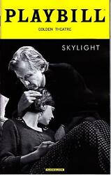 SKYLIGHT PLAYBILL BROADWAY NYC NEW YORK APRIL 2015 CAREY MULLIGAN BILL NIGHY