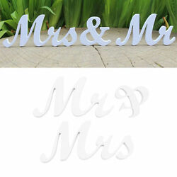 New Mr amp; Mrs Letters Wooden Standing Top Table Wedding Sign Decoration Party $6.40