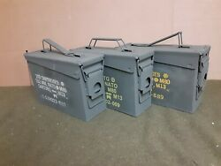 3 PACK ONCE USED MILITARY 7.62 30 Cal M19A1 AMMO CAN ** FREE SHIPPING**