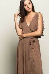 Maxi Dresses Overlapped Shawl Bodice Women#x27;s Soft amp; Comfortable High Slit Dress $24.99