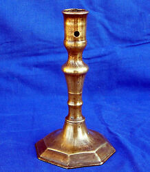17th century French bronze baluster-knopped socket candlestick circa 1670