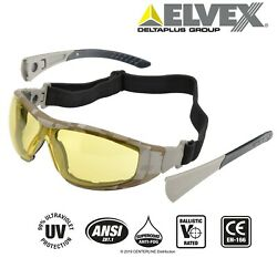 Go Specs II AMBER Lens CAMO Frames Safety Tactical Shooting Glasses Goggles $11.35