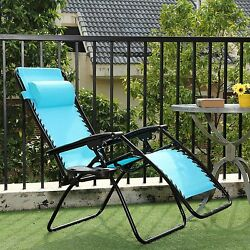 Patio Lounge Outdoor Chaise Folding Recliner Gravity Zero Portable Folding Chair