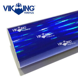 VIKING Holographic Electric Blue Chrome (Vinyl Vehicle Car Wrap Decal Film)