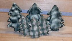 Set of 6 Homespun Trees Bowl Fillers New Audrey's 2 Sizes Cabin Decor