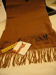 Rare Camel Or Black Luxurious Kuna Vicuna Scarf for men or women