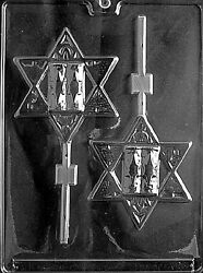 LARGE STAR OF DAVID LOLLY MOLD chocolate soap candy molds $1.99