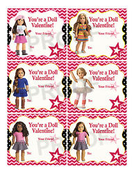 American Girl Valentines for Classroom School Valentines Day Cards Printable $5.00