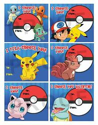 Pokemon Valentines for Classroom School Valentines Day Cards Printable $5.00