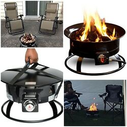 Firebowl Deluxe Portable Propane Fire Pit Stainless Steel Burner Fasteners RV