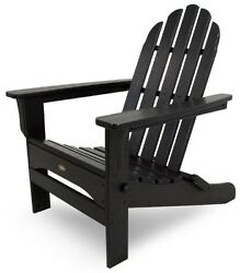 Trex Outdoor Furniture Cape Cod Folding Adirondack Chair Charcoal Black