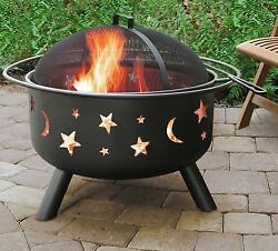 Backyard Pool Outdoor Portable Steel Fire Pit Bowl Deck Patio Cooking Fireplace