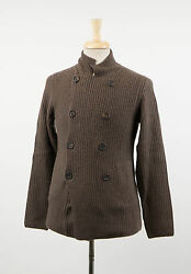 NWT BRUNELLO CUCINELLI Men's Brown Cashmere Cardigan Sweater Size 4636XS $2565