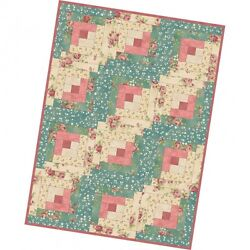 Welcome Home Fabric Collection 12 Block Log Cabin Quilt Precut Kit at 29