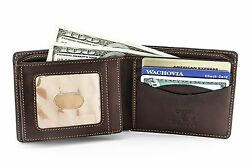 Tony Perotti Mens Italian Cow Leather Express Bifold Wallet with Front ID Win...