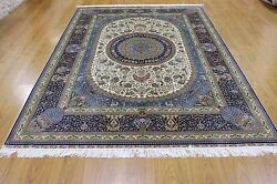 Silk Authentic HandKnotted Rug with  Herke Kashan Esfhan and Tabriz Qum elements