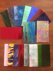 Stained Glass Sheet Variety Pack of 10 7quot; X 4quot; Pieces of Premium Glass $32.95
