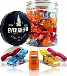 Evergreen Art Supply Sewing and Quilting Craft Clips - Original 50 Pack