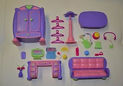 Cabbage Patch Kids CPK Lil Sprout Furniture Lot of 22 Items Pink Purple Plastic