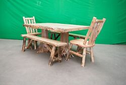 Northern Rustic Pine Log Stump Dining Table - Table Only 40x60in - $1099