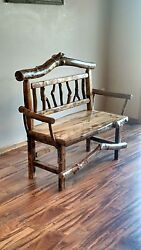 Rustic Bench Wood Bench Entryway Bench Log Bench Bench bench with arms