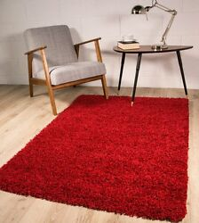 Thick Modern Small Medium Soft Anti Shed Luxury Vibrant Shaggy Rugs - 8 Colours