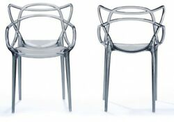 Electron Clear Plastic Contemporary Dining Chair
