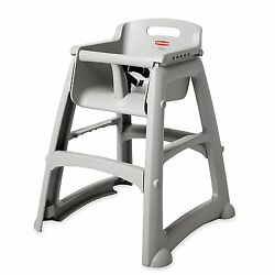 Sturdy Plastic High Chair Traditional Safety Baby Feeding Chair Infant Eats New