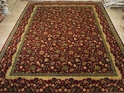 EXCLUSIVE LOVE RED HAND DOUBLE KNOTTED FINE RUG WOOL CARPET 9 X 12 FB-1036